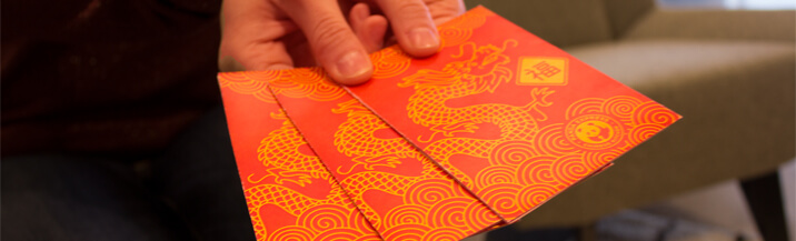 Give red envelops