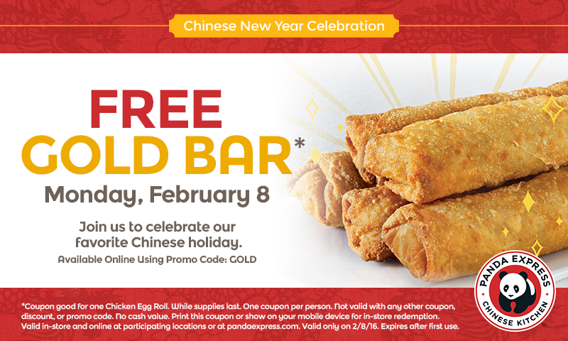 free chicken egg roll day panda express chinese new year - Panda Express Chinese New Year
