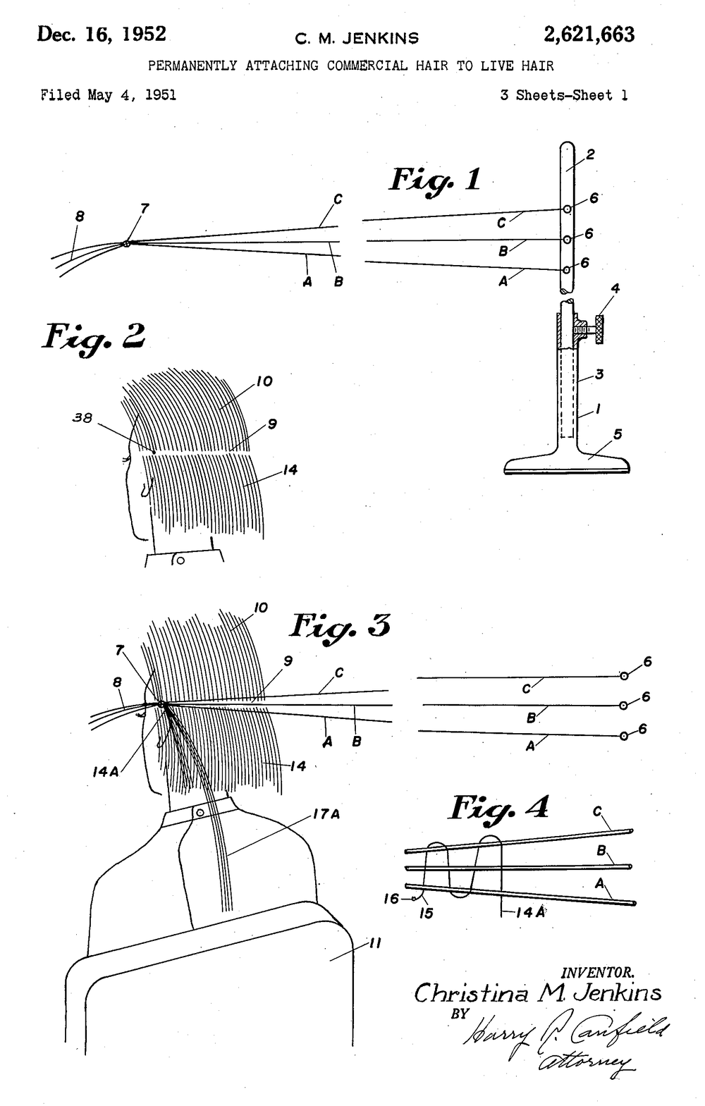 Christina Jenkins US Patent 2621663