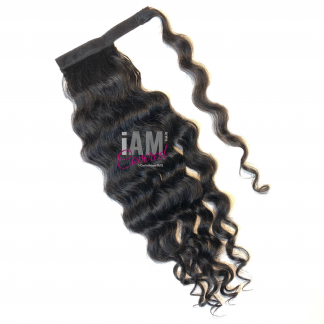 Raw Indian Temple Curly Ponytail