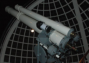 "Celestron telescope mounted on Griffith's 12"" Zeiss telescope"