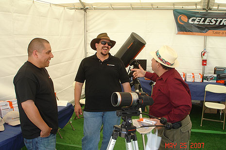 Celestron staff working the booth