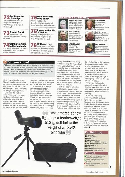 Celestron Landscout 12-36x 60 Spotter Review -page -1