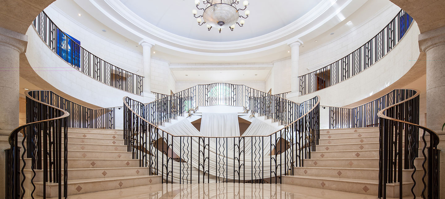 Stunning Marble Reception Area