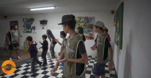 Crianças, adolescentes e jovens em atividade do Matéria Rima, que une cultura hip hop e educação integral. O projeto foi vencedor nacional na 11ª edição do Prêmio Itaú-Unicef. Clique para ampliar. Foto: Jonathas Magalhães.