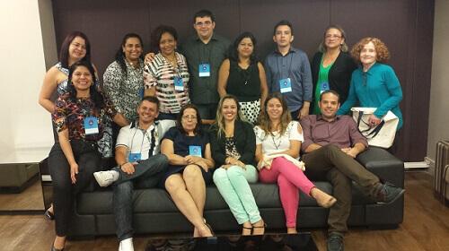 Avaliadores e equipe do Cenpec e da Fundação Itaú Social durante encontro em Belém. Foto: Divulgação.