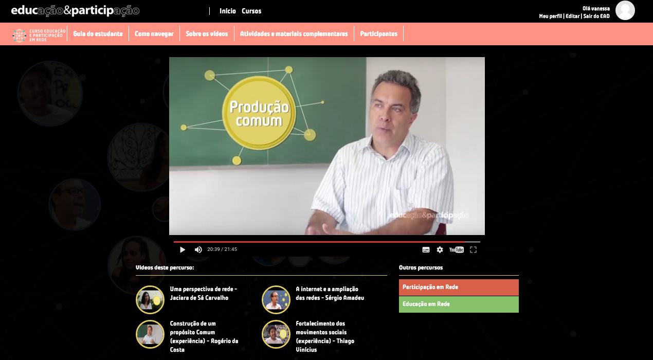Uma das etapas da formação on-line sobre redes e educação