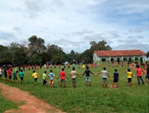 Escola Indígena Estadual Central Ikpeng - Feliz Natal (MT). Foto: Divulgação/Plataforma do Letramento.