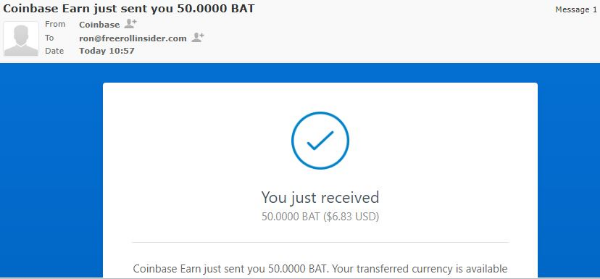 Madison : Coinbase earn bat