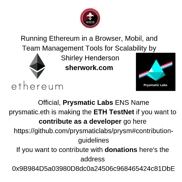 Running Ethereum in a Browser, Mobil, and Team Management