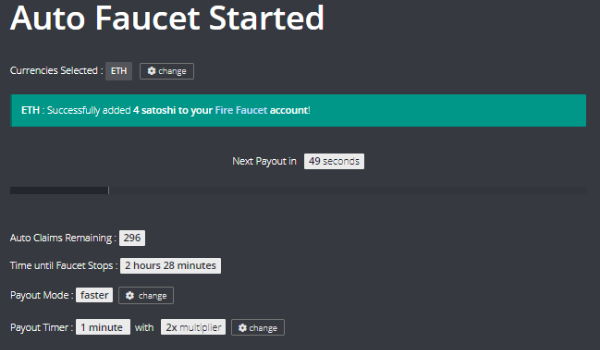 FireFaucet - My First Trusted Multi-Coin Auto Faucet