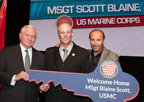 Press Release: Helping A Hero To Present New Home To Wounded Hero MSGT (RET.) Blaine Scott
