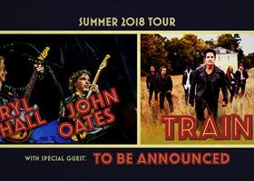 Press Release: Daryl Hall & John Oates and Train Announced Co-Headline Tour