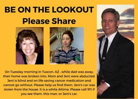 **URGENT** Missing Persons Scahiko and Jeni McClurg Last seen in Tuscon, Arizona