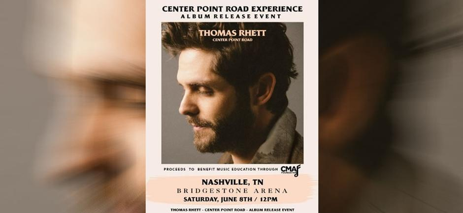 Press Release: Thomas Rhett Invites Fans To CD Release Party