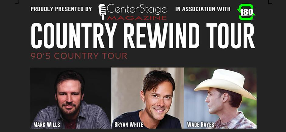 Center Stage Magazine Partners with 180 Talent Group to Announce the Country Rewind Tour