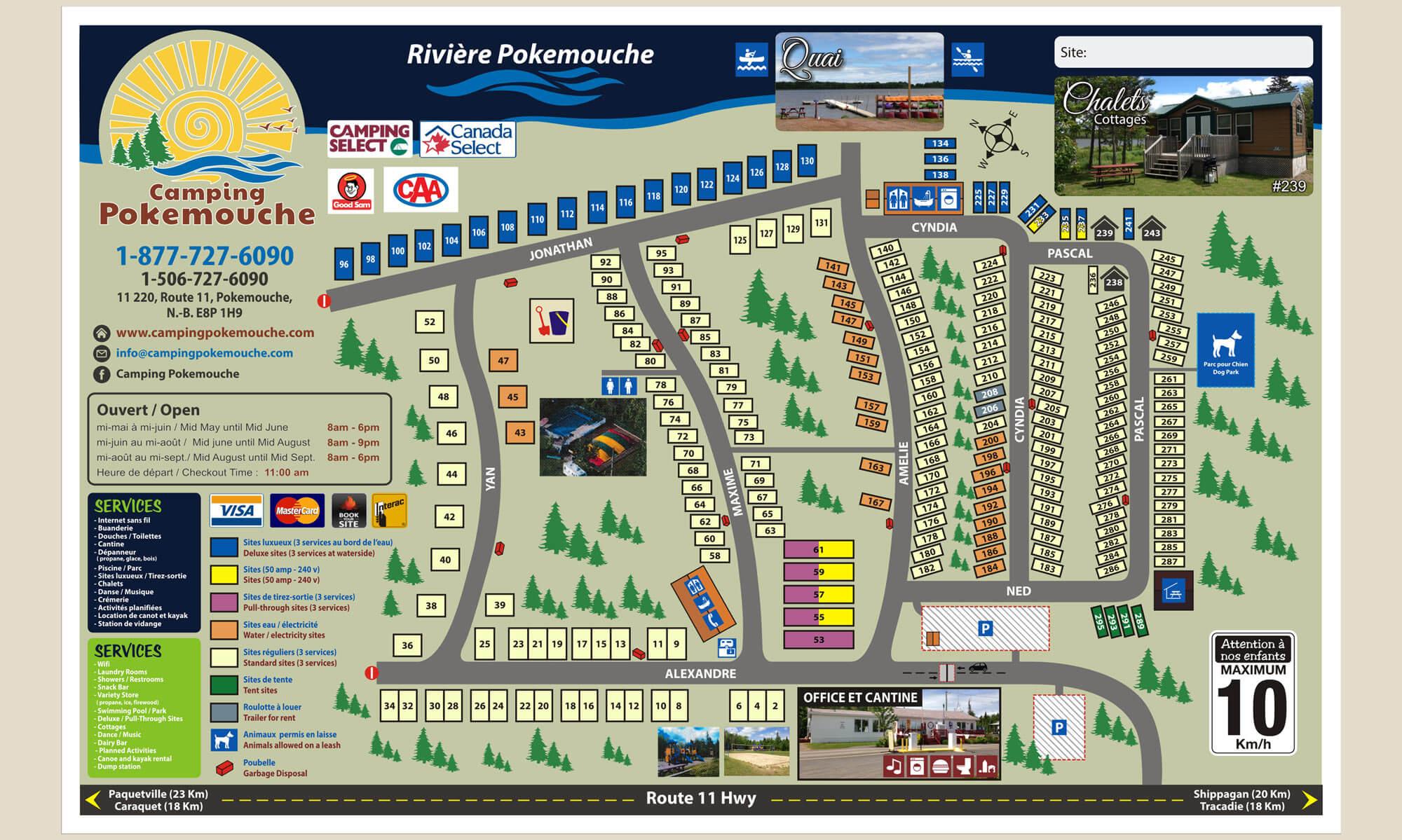 Camping pokemouche plan