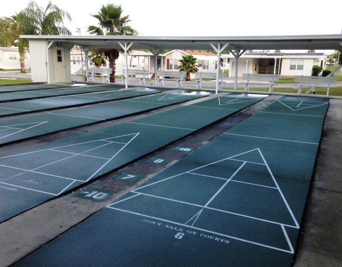 Mb2320 4 shuffleboards courts