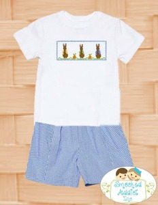 c4c56f708 Soldsie | Easter Peter Rabbit Smocked Shirt and Shorts