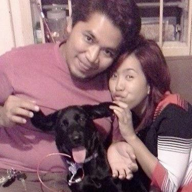 us with our little princess, our baby dog, Agnes