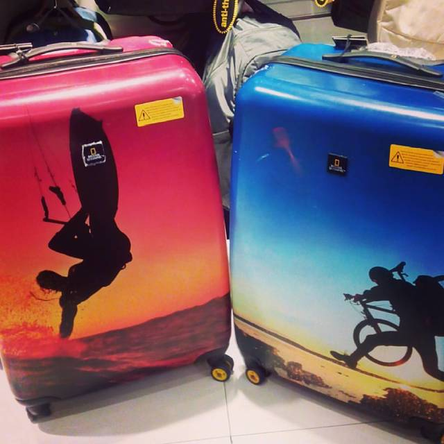 our matching luggages