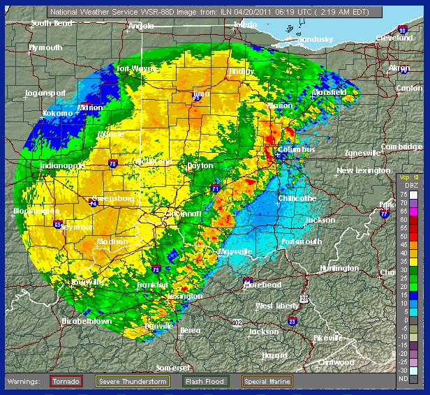 Columbus Ohio Weather Map Emergency Storm Shelter..