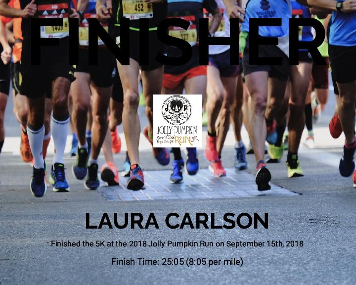 Laura Carlson - 2018 Jolly Pumpkin Run