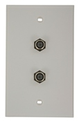 Leviton 40982-W WPlate 2 FConn Wh