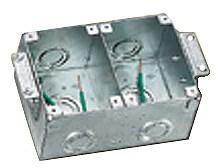 Hubbell B2482 HUBW 2G RECT METAL FLOOR BOX
