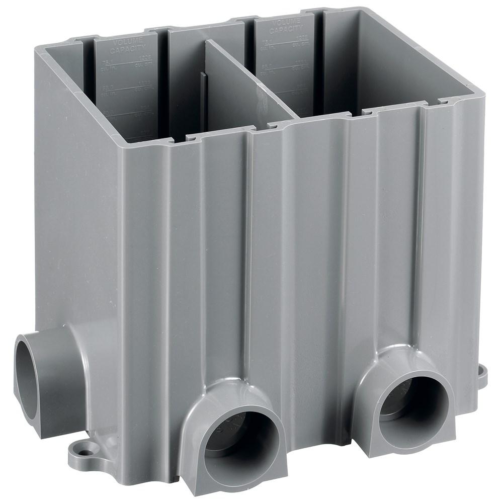 Hubbell PFBRG2 Hubbell, Floor Box, 2-Gang Flush Rectangular, PVC