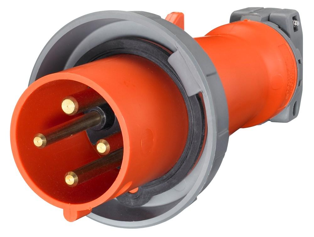 Hubbell HBL460P12W Wiring Device-Kellems Plug, 3 Pole, 4 Wire