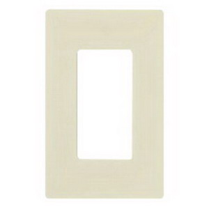 Lutron CW-1-AL Designer Claro® 1-Gang Screwless GFCI Decorator Wallplate; Device Mount, Thermoplastic, Almond