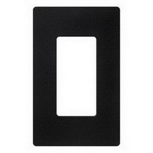 Lutron CW-1-BL Designer Claro® 1-Gang Screwless GFCI Decorator Wallplate; Device Mount, Thermoplastic, Black