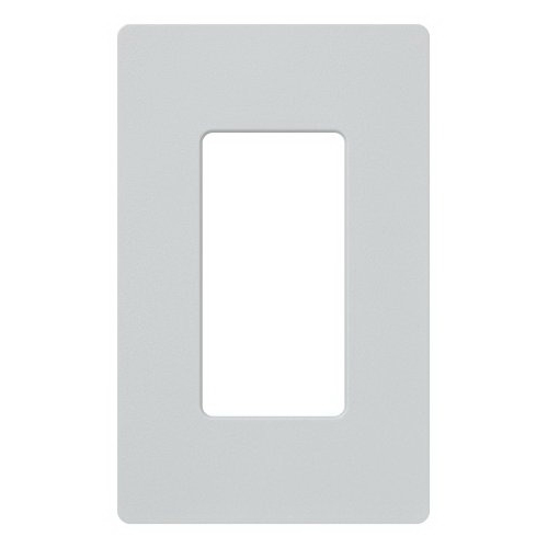 Lutron SC-1-PD Designer Satin Colors® 1-Gang Screwless Decorator Wallplate; Wall Mount, Plastic, Palladium