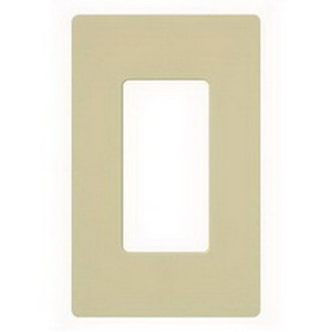 Lutron CW-1-IV Designer Claro® 1-Gang GFCI Decorator Wallplate; Device Mount, Thermoplastic, Ivory