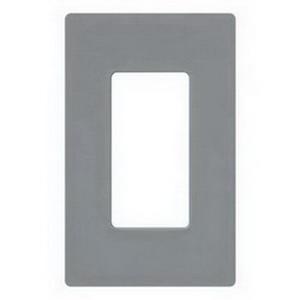 Lutron CW-1-GR Designer Claro® 1-Gang GFCI Decorator Wallplate; Device Mount, Thermoplastic, Gray