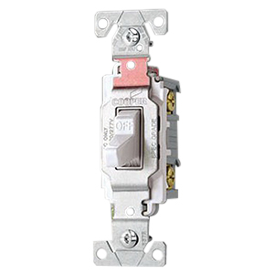Cooper Wiring CS420W-BU Arrow Hart™ Heavy Duty Grade 4-Way Quiet Toggle Switch; 120/277 Volt AC, 20 Amp, White