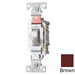 Cooper Wiring CS120B Arrow Hart™ AC Quiet Toggle Switch; 1-Pole, 120/277 Volt AC, 20 Amp, Brown
