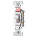 Cooper Wiring CS120W Arrow Hart™ AC Quiet Toggle Switch; 1-Pole, 120/277 Volt AC, 20 Amp, White