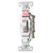 Cooper Wiring CS220W Arrow Hart™ AC Quiet Toggle Switch; 2-Pole, 120/277 Volt AC, 20 Amp, White