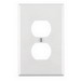 Cooper Wiring PJ8W Arrow Hart™ 1-Gang Midway-Size Duplex Receptacle Wallplate; Device Mount, Thermoplastic Nylon, White