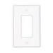 Cooper Wiring PJ26W Arrow Hart™ 1-Gang Midway-Size GFCI Decorator Wallplate; Screw Mount, Thermoplastic, White