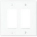 Cooper Wiring PJ262W Arrow Hart™ 2-Gang Midway-Size GFCI Decorator Wallplate; Screw Mount, Thermoplastic, White