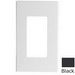 Leviton 80301-SE Decora Plus™ Decora® 1-Gang Standard-Size Screwless Decorator Wallplate; Snap-On Mount, Polycarbonate, Black