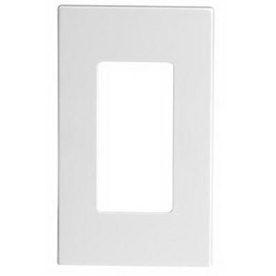 Leviton 80301-SW Decora Plus™ Decora® 1-Gang Standard-Size Screwless Decorator Wallplate; Snap-On Mount, Polycarbonate, White