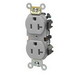 Leviton 5342-GY Double Pole Straight Blade Duplex Receptacle; Wall Mount, 125 Volt, 20 Amp, Gray