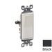 Leviton 5601-2E Decora® AC Quiet Rocker Switch; 1-Pole, 120/277 Volt AC, 15 Amp, Black