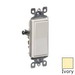 Leviton 5601-2I Decora® AC Quiet Rocker Switch; 1-Pole, 120/277 Volt AC, 15 Amp, Ivory