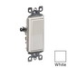 Leviton 5601-2W Decora® AC Quiet Switch; 1-Pole, 120/277 Volt AC, 15 Amp, White