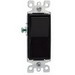 Leviton 5603-2E Decora® AC Quiet 3-Way Rocker Switch; 1-Pole, 120/277 Volt AC, 15 Amp, Black